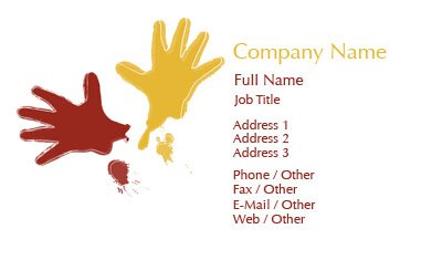 Hand Prints Business Card Template